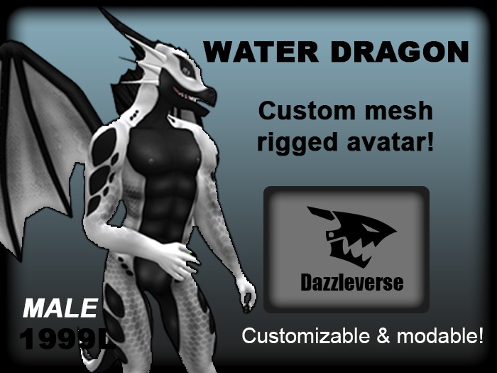 Water Dragon - White
