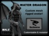 Dragon Avatar Water Dragon - Grey
