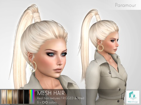 rezology Paramour (RIGGED mesh hair) NS - 557 complexity