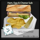 F&B Ham, Egg & Cheese Sub Plate