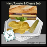 F&B Ham, Tomato & Cheese Sub Plate