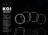 KOI Square Confetti Ring Black and White Pack