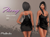MELINDA*THERRY DRESS BLACK  FITTED MESH