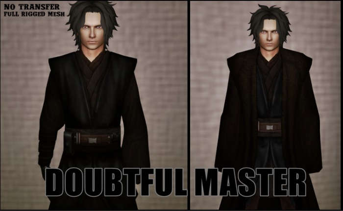 DOUBTFUL MASTER - Mesh robes