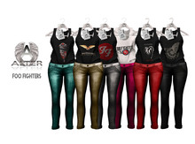 ::A:: Roll Foo Fighters Fashion Blouse Pant W/HUD ***