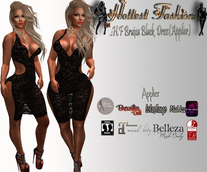 .:H.F Bruixa Black Lace Dress (applier)