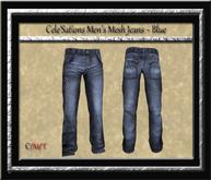 Cele'Sations Men's Mesh Jeans ~ Blue Pk