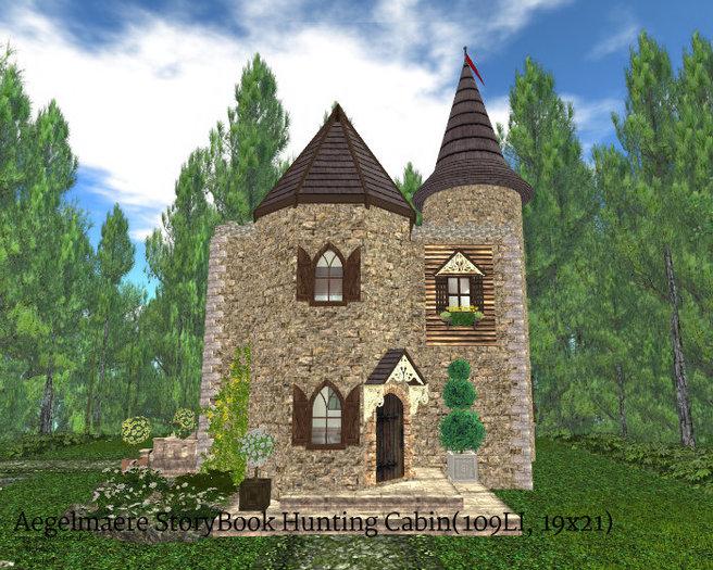 Aegelmaere StoryBook Hunting Cabin(109LI, 19x21)