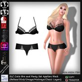 SLC Cutie Bra and Panty Set Appliers black *Appliers*Belleza*Omega*Slink*Maitreya*clothing layers*