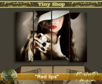 "Picture modular ""Red lips""(full perm) 100%mesh."
