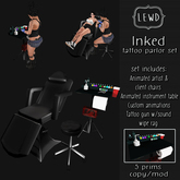 : Lewd :  Inked  ~ Tattoo Parlor set, Tattoo chair