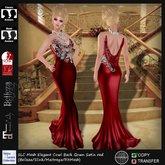 SLC Mesh Elegant Cowl Back Gown Satin red (FitMesh/Belleza/Slink/Maitreya)
