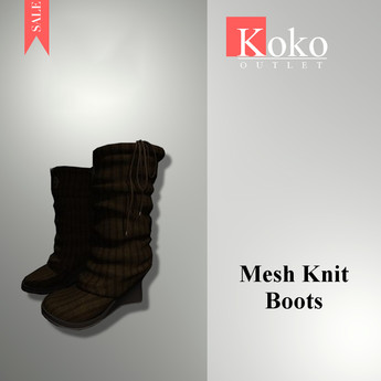 SPECIAL PRICE 1 WEEK ONLY- CLASSIC AVIS - Koko Outlet Mesh - Knit boots - Brown