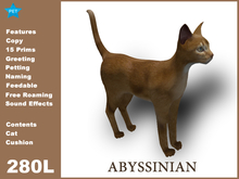 [TomatoPark] Abyssinian Cat Mesh 3.3 ( roaming + wearable )