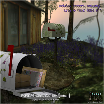 -Hanaya- Forest Clearing Mailbox with mail drop [mesh]