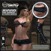 [RnR] Swag Avvio Country Western Outfit w/ Thigh Boots (Classic Avatar & Mesh Bodies)