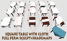 Square Table with Cloth FULL PERM SCULPT+SHADEMAPS