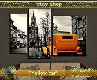 "Picture modular ""Yellow car""(full perm) 100%mesh."