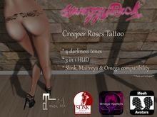 [SR] Creeper Roses Tattoo - Slink Maitreya Omega