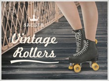 {sallie} Vintage Rollers - black leather