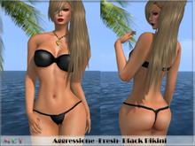 *Aggressione* -Fresh- Black Bikini w/ appliers PROMO