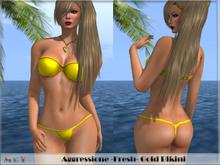 *Aggressione* -Fresh- Gold Bikini with Appliers PROMO