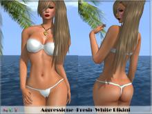 *Aggressione* -Fresh- White Bikini with appliers PROMO