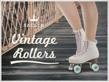 {sallie} Vintage Rollers - white leather