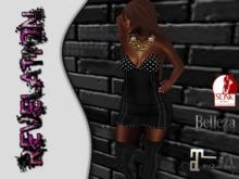 :::Revelation::: Cami dress black custom