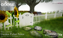 GOOSE - Garden picket fence - white wood