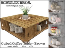 [Schultz Bros.] Cubed Coffee Table - Brown (Boxed)