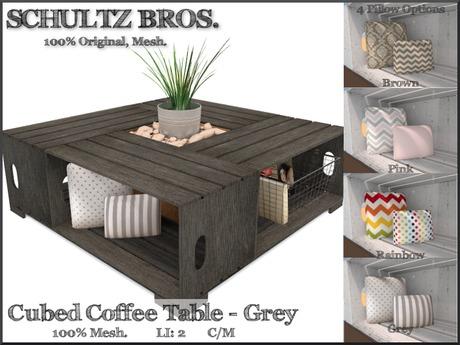 Cubed Coffee Table - Gray (2 LI)
