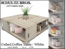 [Schultz Bros.] Cubed Coffee Table - White (Boxed)