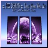 :: SIXX DESIGNS :: Purple Moon Wall Art