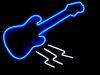 TA Blue Neon Guitar