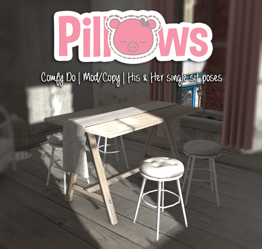 [P] Pillows, Comfy Do: Table & Chairs