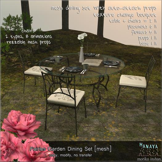 -Hanaya- Fairies Garden Dining Set [mesh]