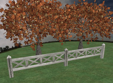 Fence Cross Boards (Sculpted)