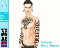 -Natti- Nathan Body Tattoo Omega (Unisex)