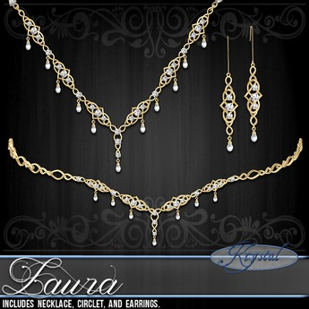 ::: Krystal ::: Laura - Jewelry Set - Gold