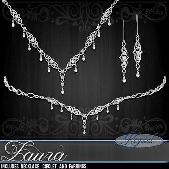 ::: Krystal ::: Laura - Jewelry Set - Platinum