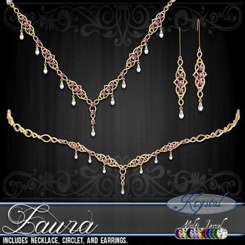 ::: Krystal ::: Laura - Jewelry Set - Gold - MultiJewel