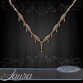::: Krystal ::: Laura - Necklace - Gold - Rose