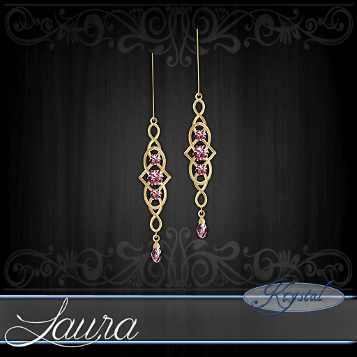 ::: Krystal ::: Laura - Earrings - Gold - Rose