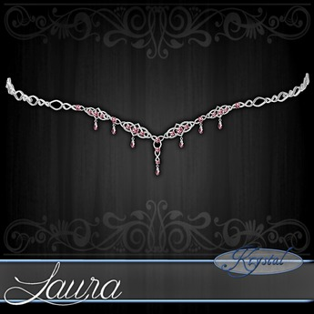 ::: Krystal ::: Laura - Circlet - Platinum - Rose