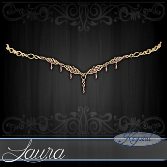 ::: Krystal ::: Laura - Circlet - Gold - Rose