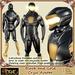 [Drac] Cryss Robot Complete Avatar Mens/Womens/Unisex Costume - Black/Gold