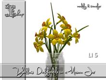Yellow Daffodils in a Mason Jar MT
