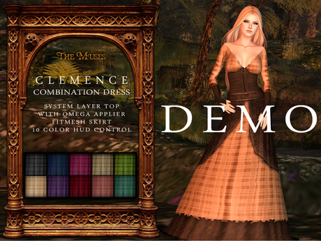 The Muses . Clemence . Combination Dress , DEMO