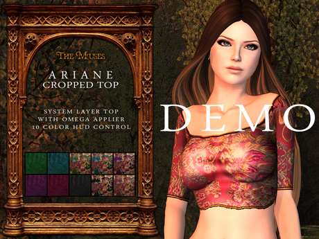 The Muses . Ariane Crop Top . DEMO